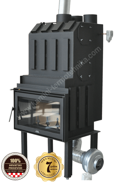 Kamin za radjeljivanje toplog zraka